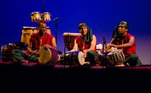 Playing dholak with Shane Franklin (djembe) and Aanand Shah (tabla).